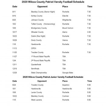 2020 Football Schedule Featured Image